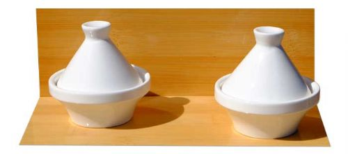 White small Tagine dishes 7cm X2 ceramic - GOTO